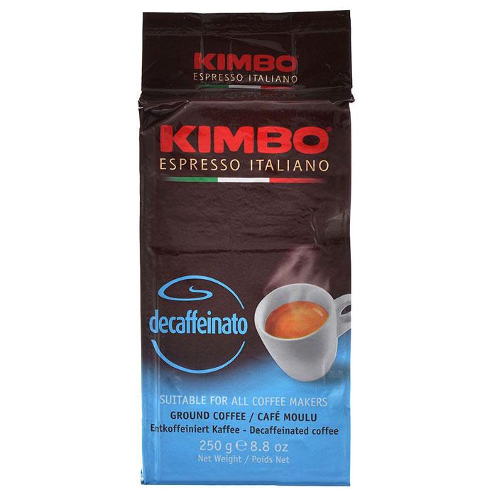 Кофе молотый Kimbo Decaffeinato 250 гр в/у