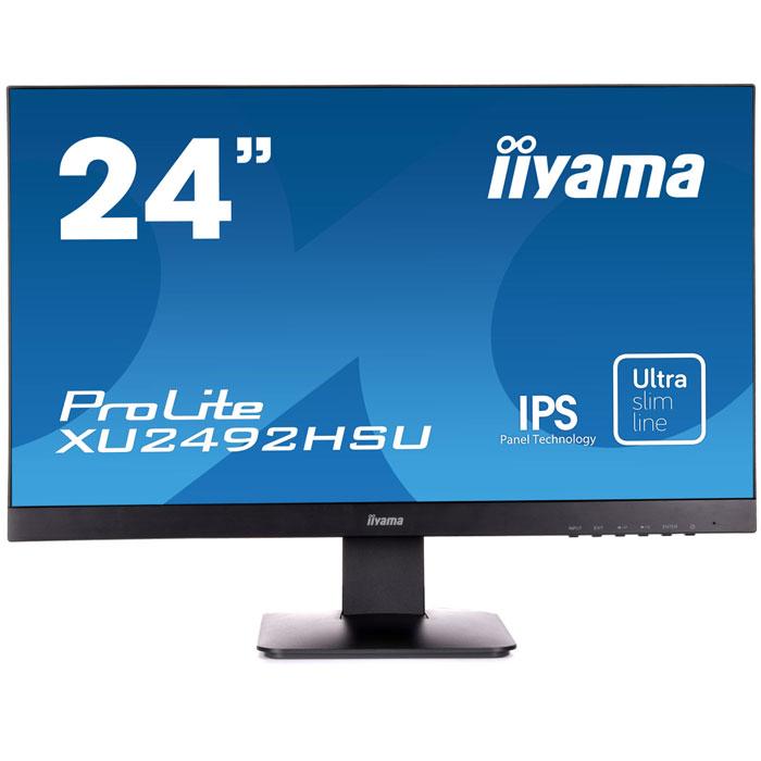 Монитор ЖК Iiyama ProLite XU2492HSU-B1 24″ black VGA HDMI DisplayPort