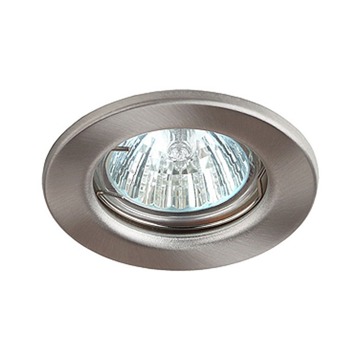 Светильник ЭРА C0043800 ST1 SN MR16 12V/220V 50W сатин никель