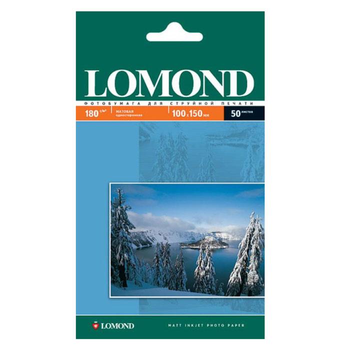 Фотобумага 10×15 Lomond 180г/м2 50л, белый матовое для струйной печати ( 0102063 )