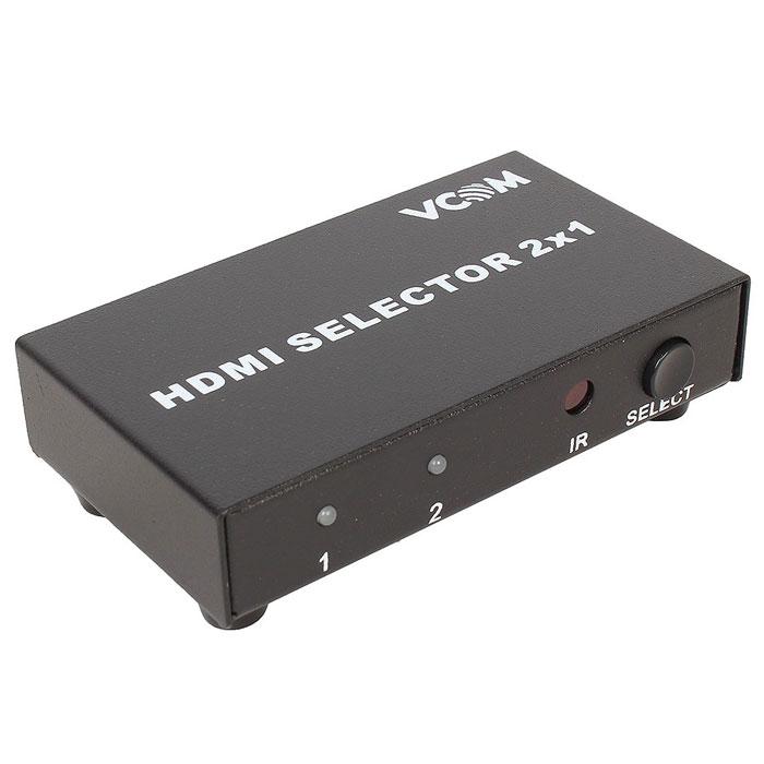 Переключатель Vcom ( DD432 ), 2 HDMI входа — 1 HDMI