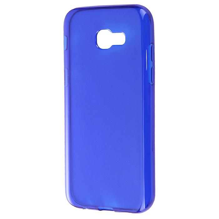 Чехол Gecko Силиконовая накладка для Samsung Galaxy A5 (2017) SM-A520F, прозрачно-глянцевая, синяя