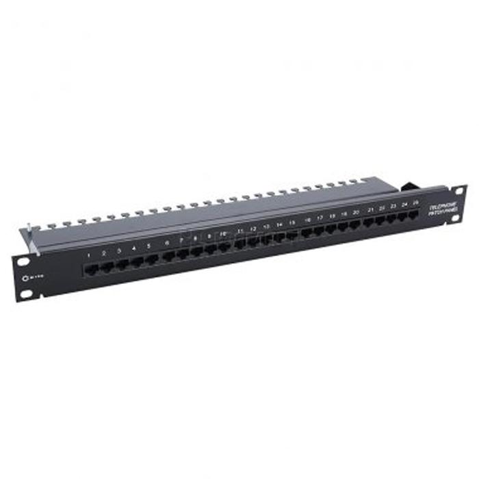 Патч-панель 19″ 5bites LY-PP5-15 UTP телеф., 25 портов 8P4C, Krone, 1U, 19″