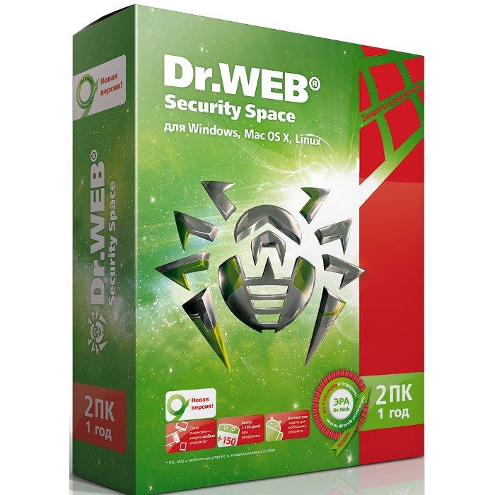 Антивирус DR.WEB Антивирус, картонная упаковка, на 12 месяцев, на 2 ПК ( BHW-A-12M-2-A3 )