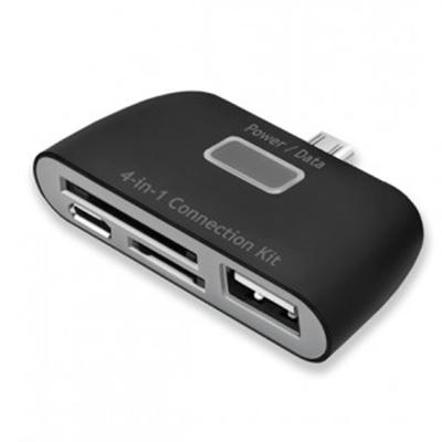 Картридер OTG connection kit для смартфонов, планшетов с micro USB Deppa 0.15м (11405) черный