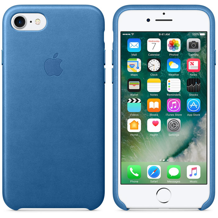 Чехол для Apple iPhone 7 Leather Case Sea Blue MMY42ZM/A