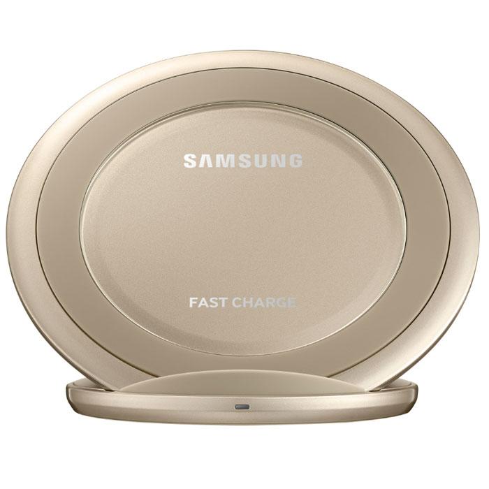 Беспроводная зарядная панель Samsung EP-NG930BFRGRU для Samsung S6 Edge plus/Note 5 G928/N920/Galaxy S7/S7 edge, Fastcharger, золотистая