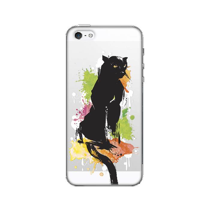 Чехол для iPhone 5 / iPhone 5S / iPhone SE Deppa Art Case, Animal, Пантера