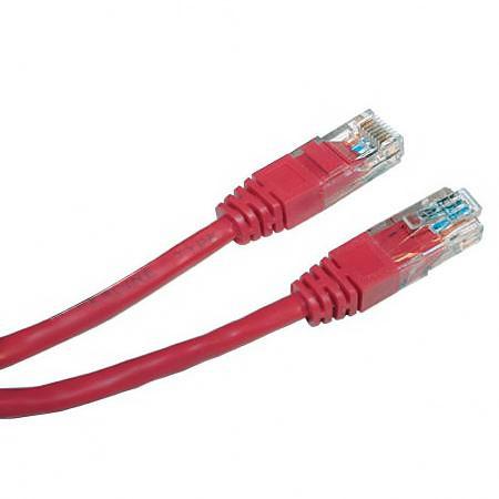 Патч-корд UTP 0.5м красный