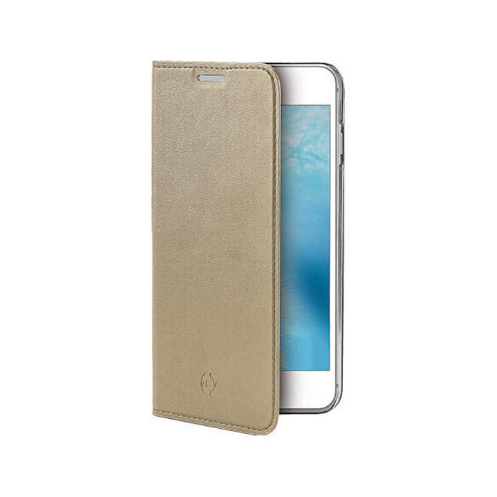 Чехол Celly Air book-case для Galaxy A5 (2017) SM-A520F, золотистый