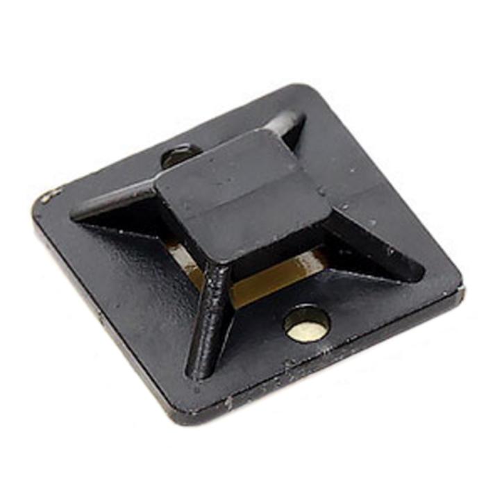 Площадка (самокл.)  5bites ( CTM 3030 ) для крепления стяжек, 30×30мм., 100шт Black