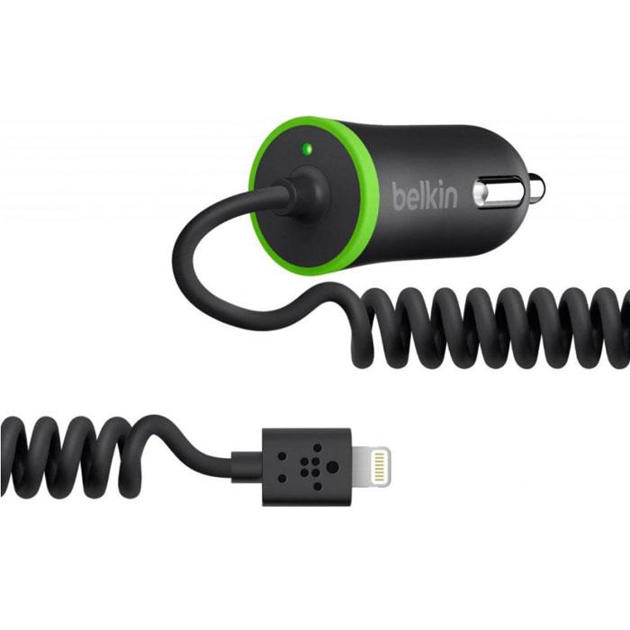Зарядное устройство автомобильное для iPad/iPhone/iPod Belkin Car Charger 2.1A Lightning Черный/зеленый F8J074BTBLK