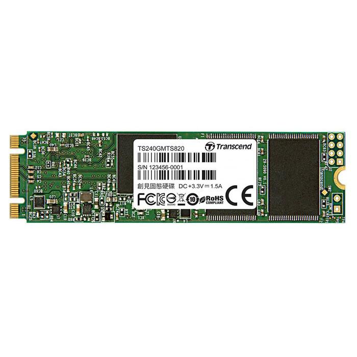 Накопитель SSD M.2 SATA3 240Гб Transcend MTS820 ( TS240GMTS820  )