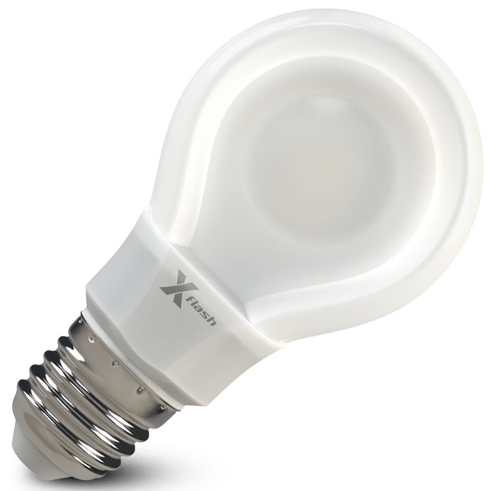 Светодиодная LED лампа X-flash Bulb A60 E27 8W 220V белый свет, плоская колба