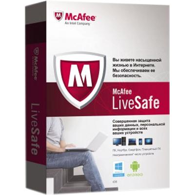 Антивирус McAfee LiveSafe Promo коробка (BOXMLS139001RAA)