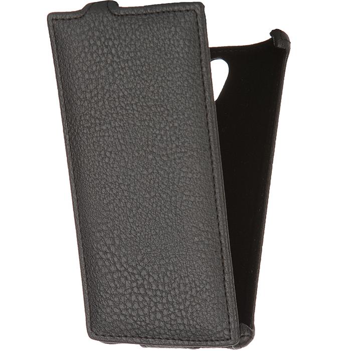Чехол Gecko Flip для Philips Xenium S398, черный