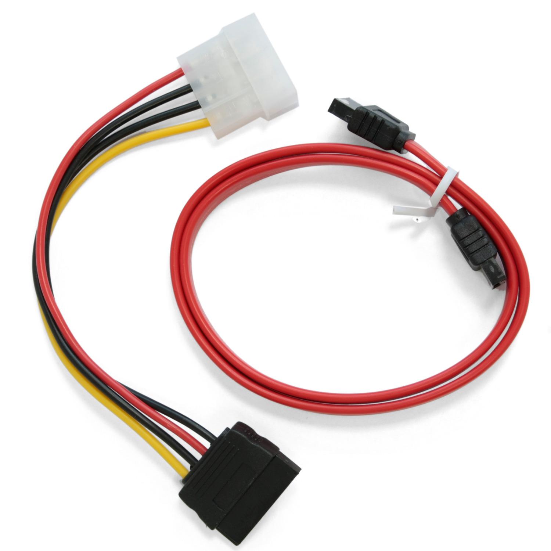 Кабель питания Molex &#8212; SATA 0.15м <> + Кабель интерфейсный SATA 0.35м