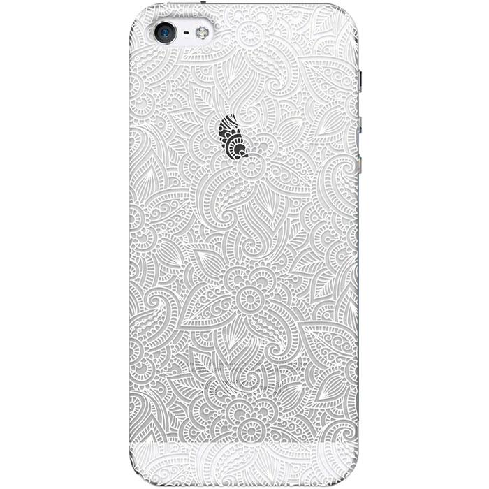 Чехол для iPhone 5 / iPhone 5S / iPhone SE Deppa Art Case, Boho, Кружево светлое