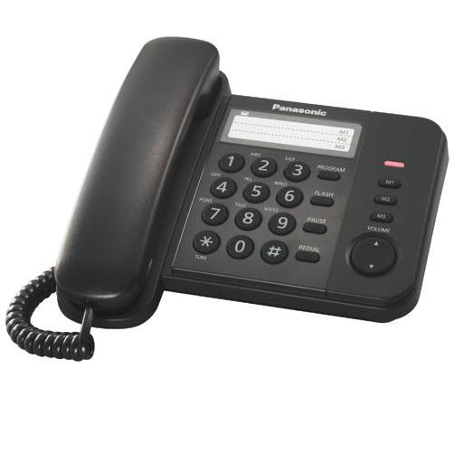 Телефон PANASONIC KX-TS2352RUB, черный