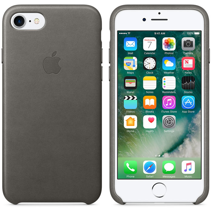 Чехол для Apple iPhone 7 Leather Case Storm Gray MMY42ZM/A