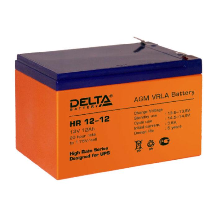 Батарея Delta HR 12-12 (12V 12Ah)
