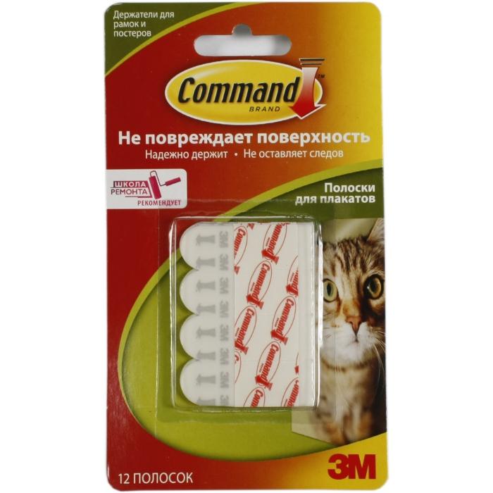 Command 17024 легкоудаляемый самокл. полоски д/ плакатов, 12шт