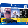 Игровая приставка Sony PlayStation 4 Slim 1Tb Черная + Horizon Zero Dawn, Detroit: Become Human, The Last of Us + PSN 3мес