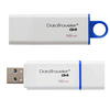 Флеш-диск 16Гб Kingston DataTraveler Generation 4 (DTIG4/16GB) USB 3.0 Бело-синий